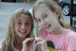 Birthday girl Ella and Abbie