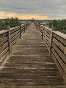 The walkway to the best sunset view in the area